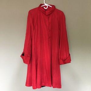 Vintage red oversized jacket